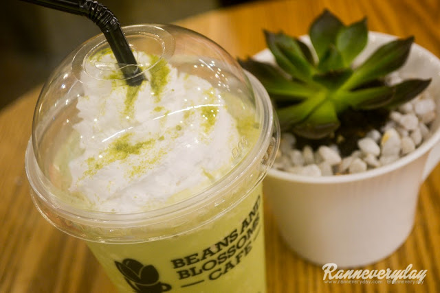 Matcha Gotcha Matcha Frappe at Beans and Blossoms Cafe Malolos