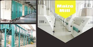 Installed wheat mill machine
