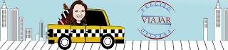 """Logo do blog """"Preciso Viajar"""""""