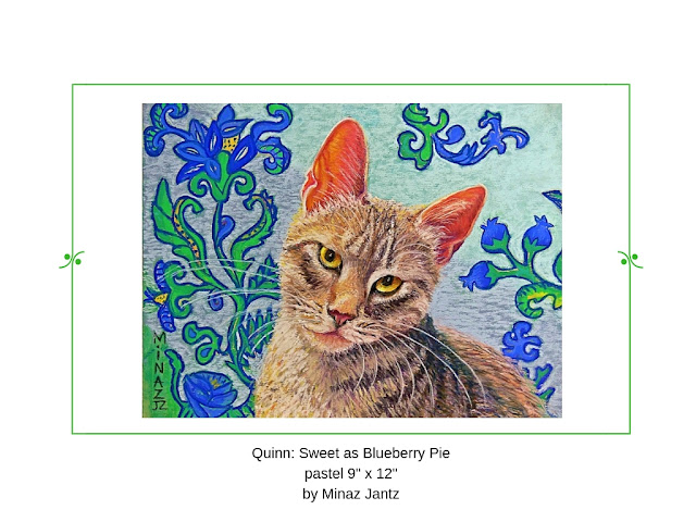 Quinn: Sweet as Blueberry Pie pet portrait by Minaz Jantz