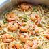 Recette Spaghetti aux crevettes et beurre à l'ail