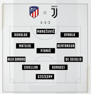 Starting 11 vs At Madrid Champions League
