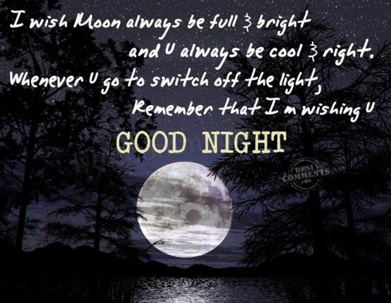i wish moon always full good night quotes and wishes
