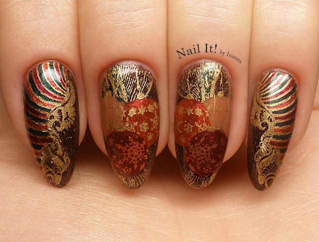 Pierwsze świąteczne zdobienie w historii bloga / Firt Christmas Nail Art in blog's history