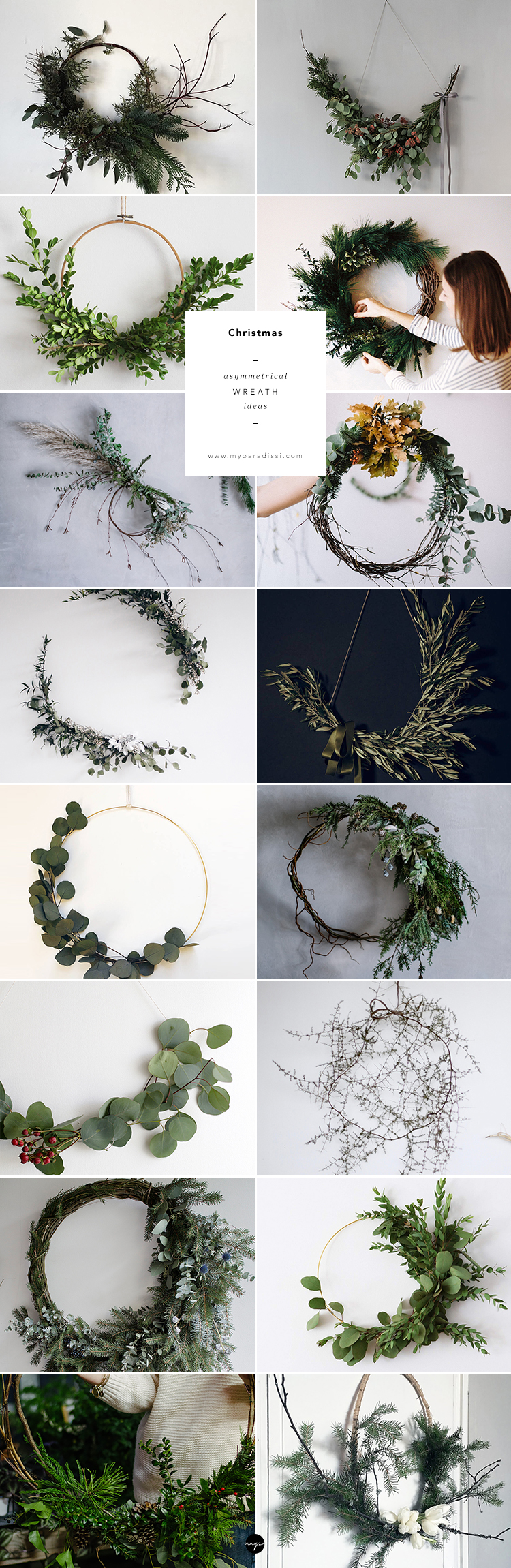 Asymmetrical wreath ideas