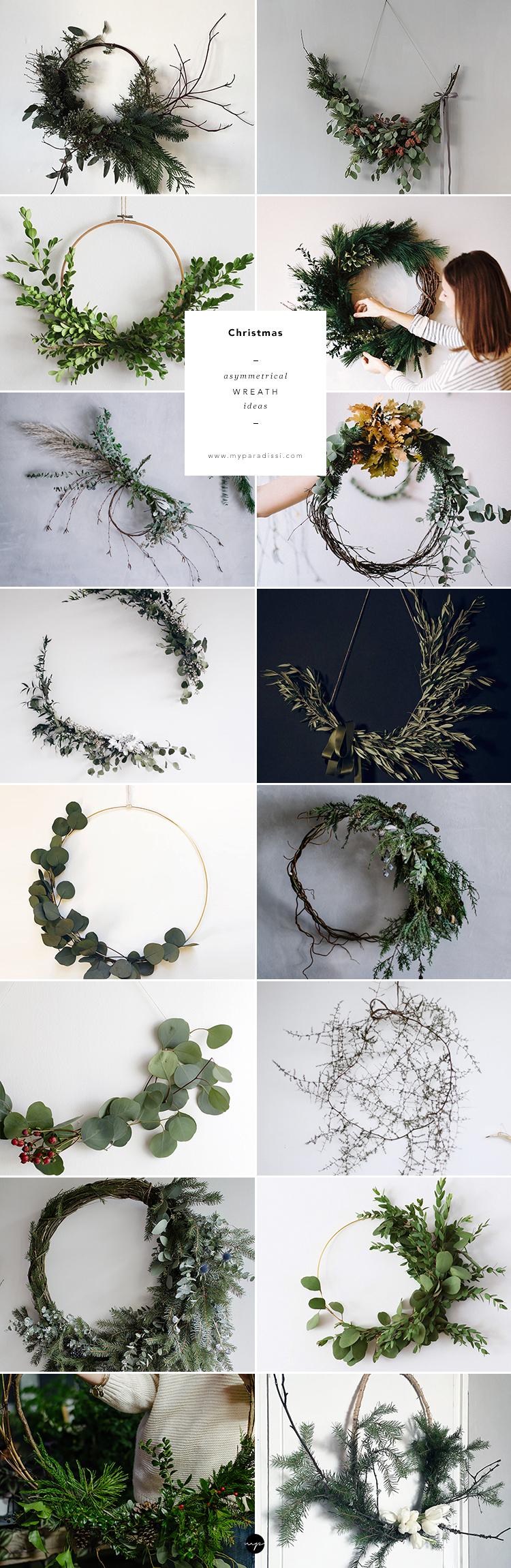 Asymmetrical wreath ideas