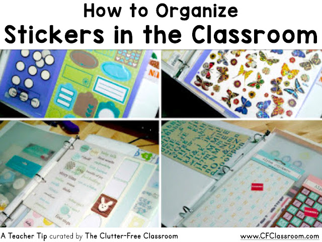 Are you wondering how to organize stickers in the classroom? This classroom management tip will be helpful to elementary teachers.