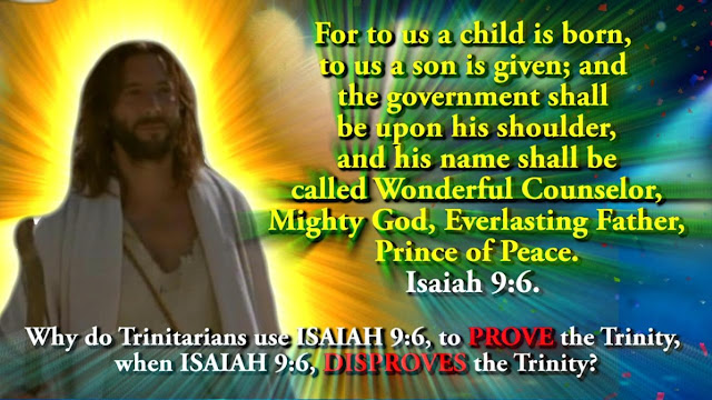 For to us a child is born, to us a son is given; and the government shall be upon his shoulder, and his name shall be called Wonderful Counselor, Mighty God, Everlasting Father, Prince of Peace. Isaiah 9:6,
