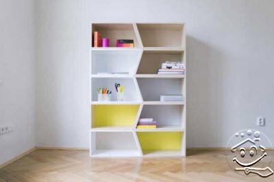 desain lemari rak buku lucu