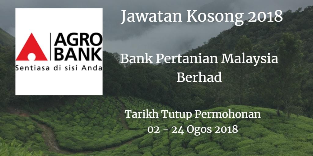 Jawatan Kosong Agrobank 02 - 24 Ogos 2018