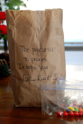 30th birthday gag gifts precursor to prunes Runts
