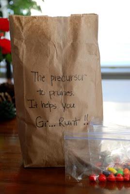 30th birthday gag gifts precursor to prunes Runts