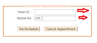appointment for Aadhar card enrollment Online