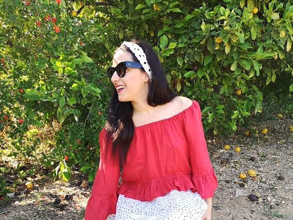 3 ways to style a white polka dot skirt