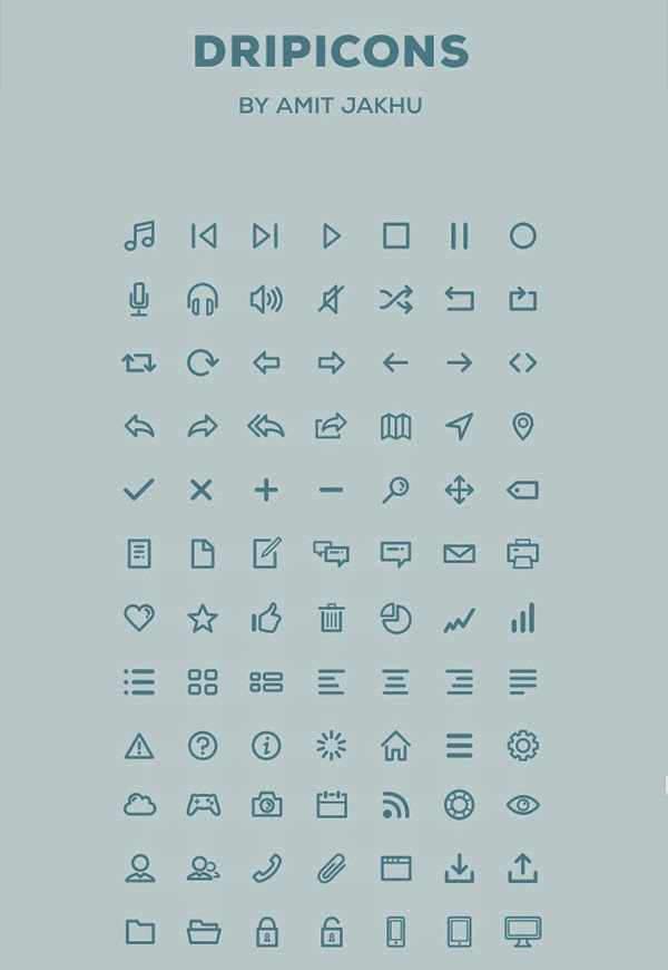 Dripicons (Free Iconset) – PSD, Illustrator, Webfont by Amit Jakhu