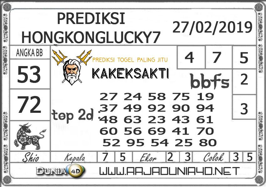 Prediksi Togel HONGKONG LUCKY7 DUNIA4D 27 FEBRUARI 2019