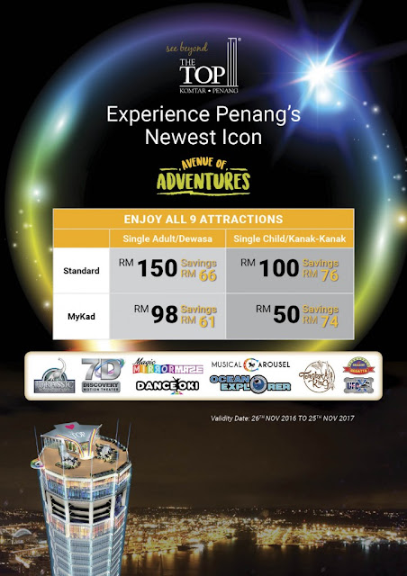 Avenue of Adventures The TOP Penang All Park Day Pass Ticket Price