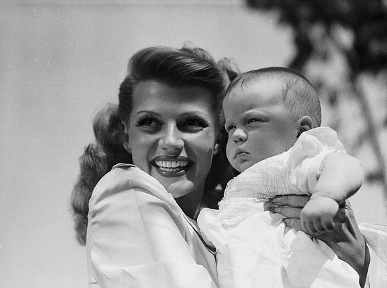 Rita Hayworth and Rebecca welles