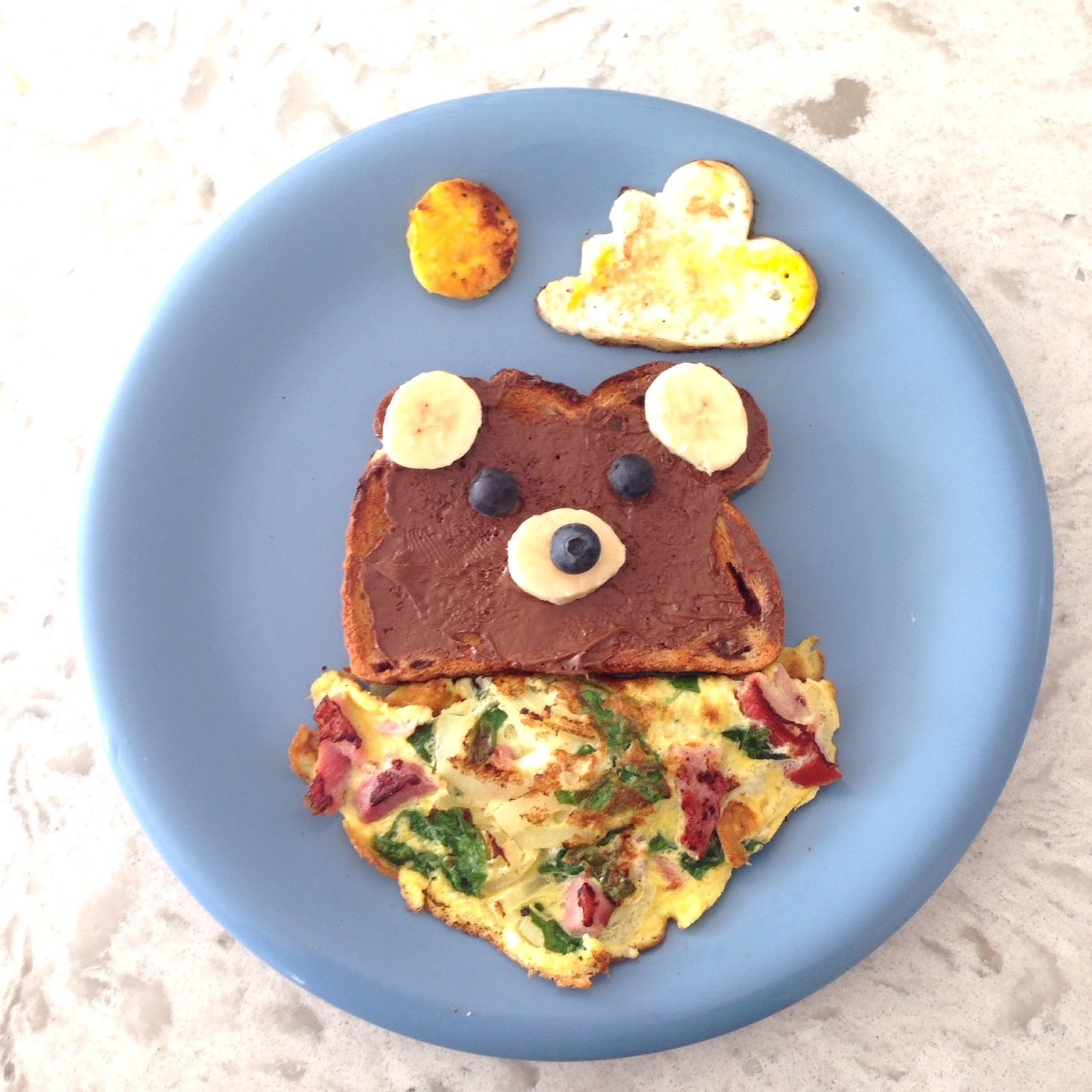 Bear toast with bandana omelette