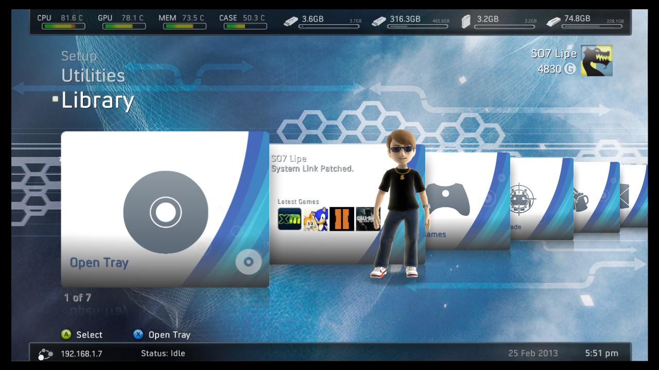 FreeStyle no Xbox 360 instalando e configurando   Vital Game Box