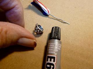 Patriotic tassel earrings