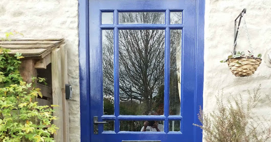 External Doors Painted - French Style Courtyard