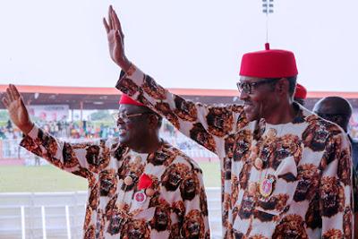 President's visit to Eboyin,Eboyin State governor ,President Muhammadu Buhari ,Ndigbo.  A.P.C ,P.D.P,  IGBO LEADERS,,Igbo presidency