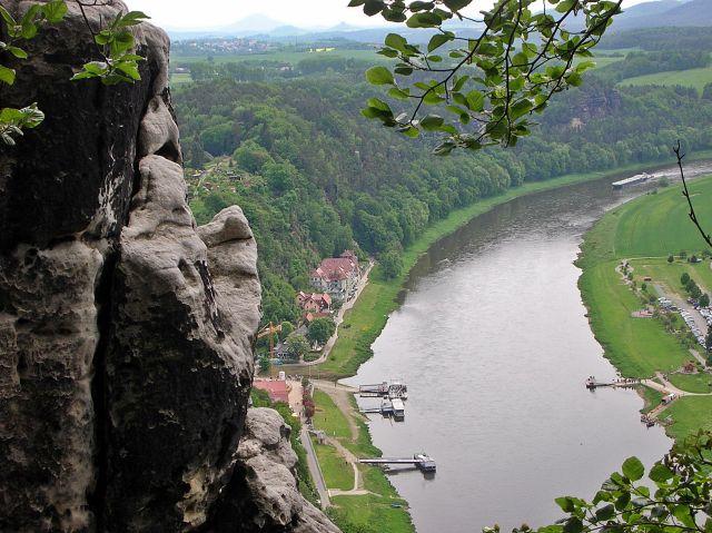 Elbe, widok na Łabę