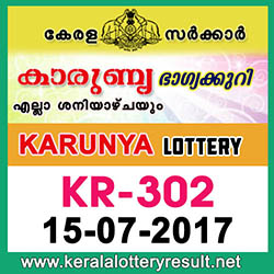 kl result yesterday,lottery results, lotteries results, keralalotteries, kerala lottery, keralalotteryresult, kerala lottery result, kerala lottery result live, kerala lottery   results, kerala lottery today, kerala lottery result today, kerala lottery results today, today kerala lottery result, kerala lottery result 15 7 2017 karunya lottery kr 302,   karunya lottery, karunya lottery today result, karunya lottery result yesterday, karunya lottery kr302, karunya lottery 15.7.2017