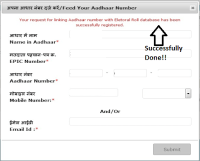 Voter ID Card & Aadhaar Card Link Up Process