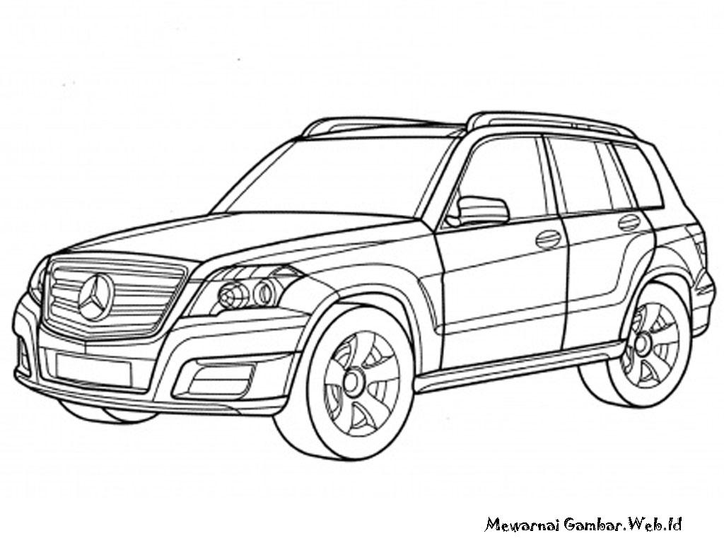 Mobil Mercedes GLK Class Untuk Diwarnai Anak Anak