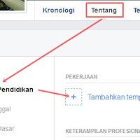 Cara Menambahkan Informasi Pekerjaan di Facebook