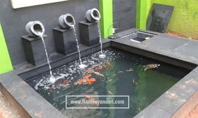 Jasa pembuatan kolam ikan batu alam