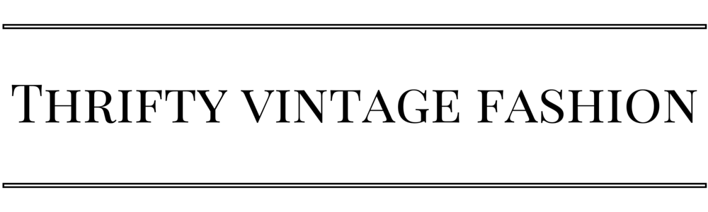 Thrifty Vintage Fashion