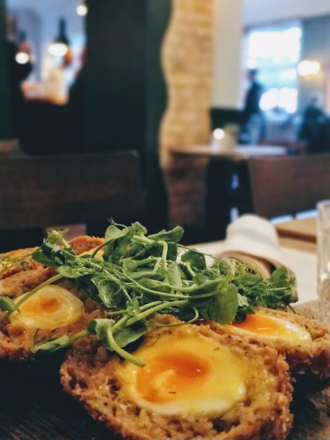 Scotch eggs at The Vine, Kentish Town