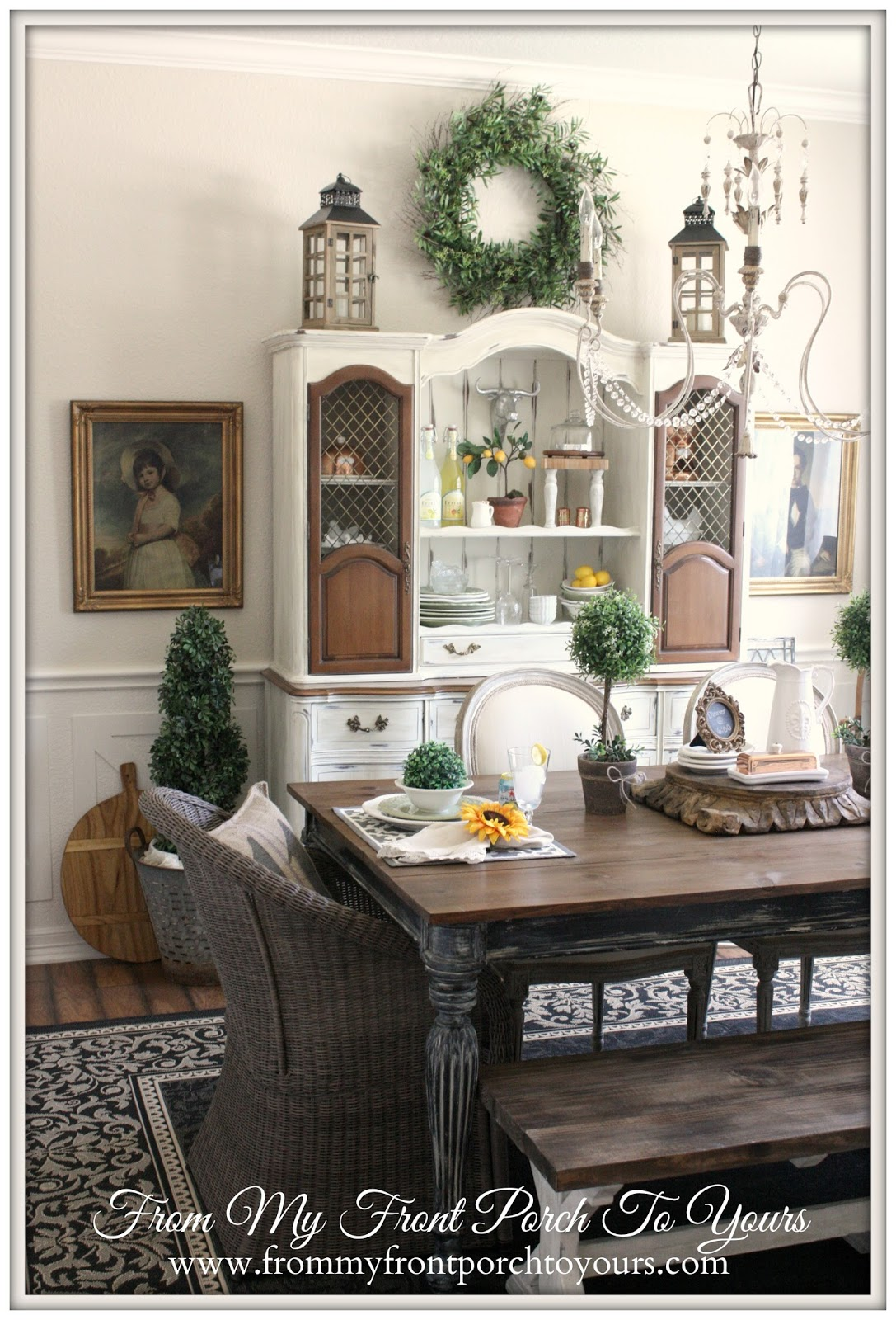 French Farmhouse Dining Room-Top Blog Posts of 2014- From My Front Porch To Yours