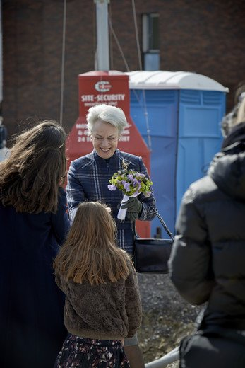 Princess Benedikte of Denmark laid the foundation stone for a new college house of Parents Foundation