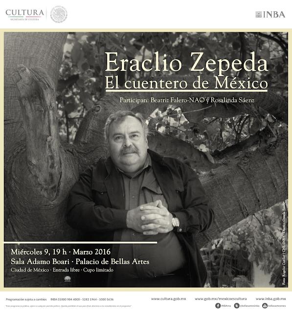 Homenaje a Eraclio Zepeda en el Palacio de Bellas Artes