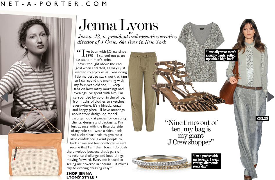 J.Crew Aficionada: Jenna Lyons Shares Her Thoughts & Picks
