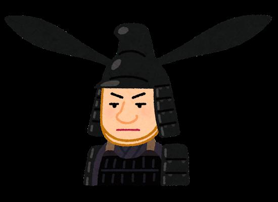 藤堂高虎の似顔絵イラスト