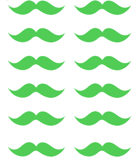 free printable mustaches st patricks day