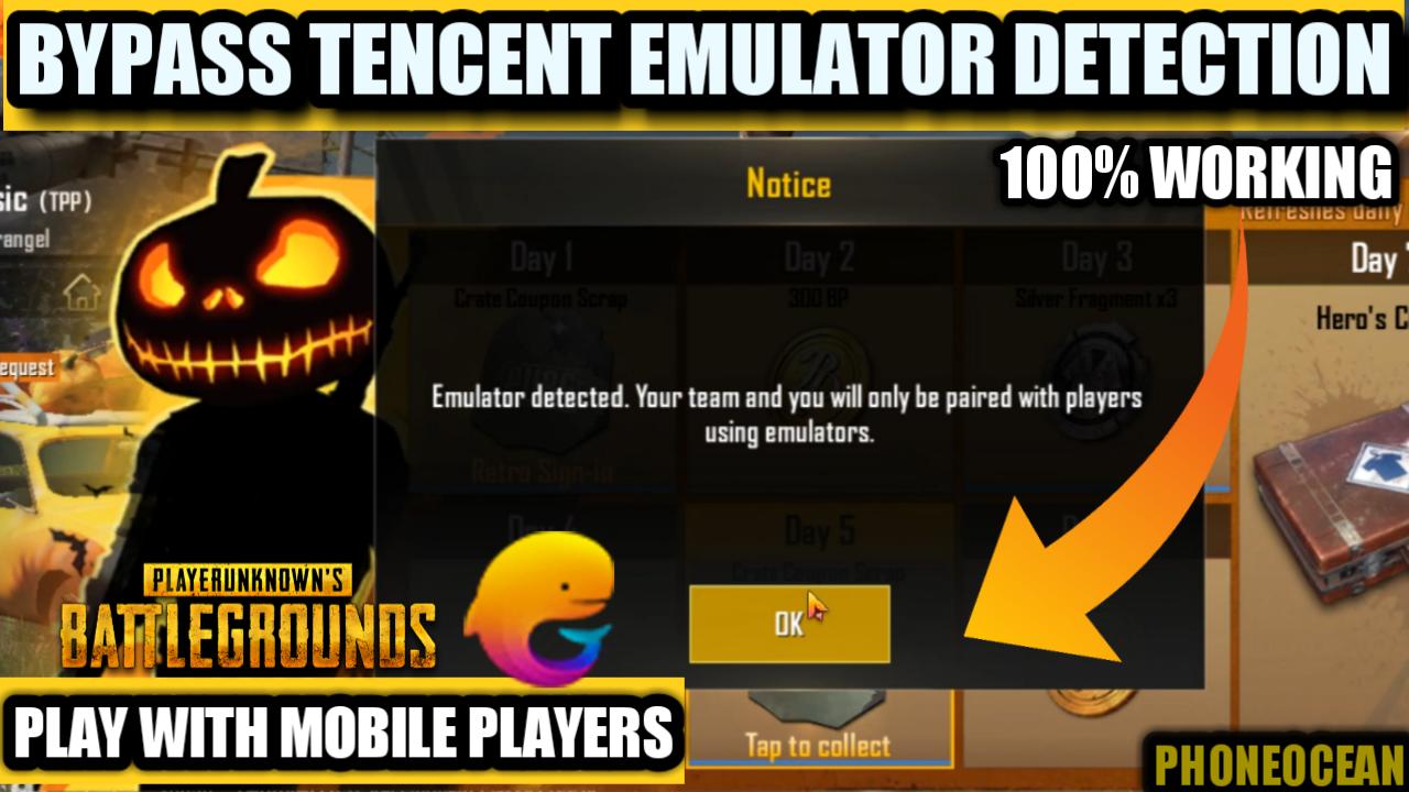 solved pubg mobile emulator detected error fixed