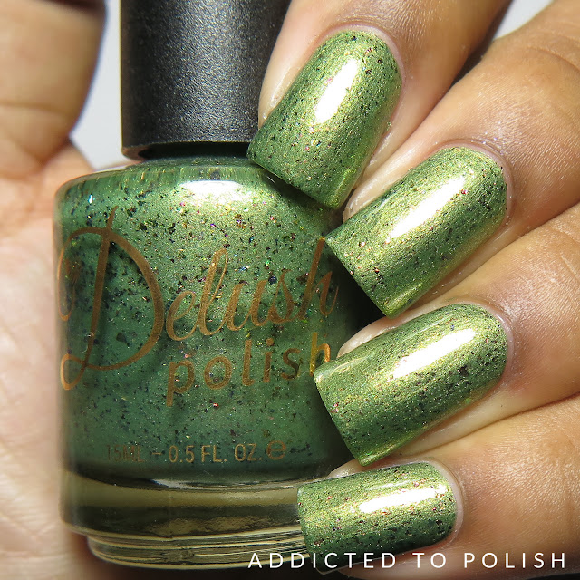 Delush Polish Olive You Long TIme High and Mightea Spring collection swatches