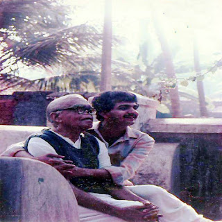 Jayanth Kaikini with his father