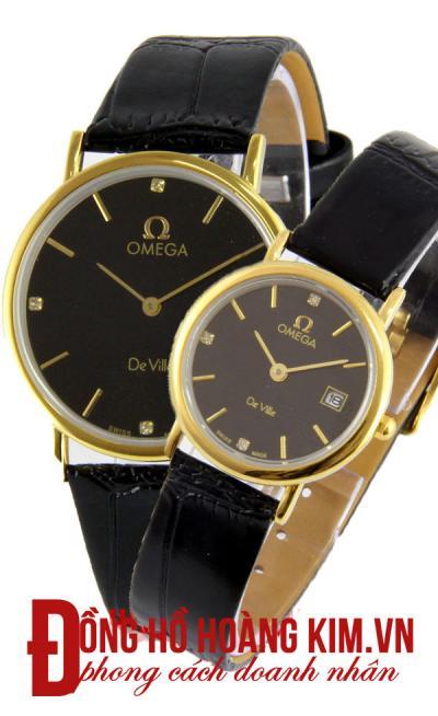 đồng hồ đôi dây da hàng hiệu