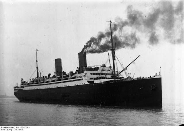 ss Columbus at sea