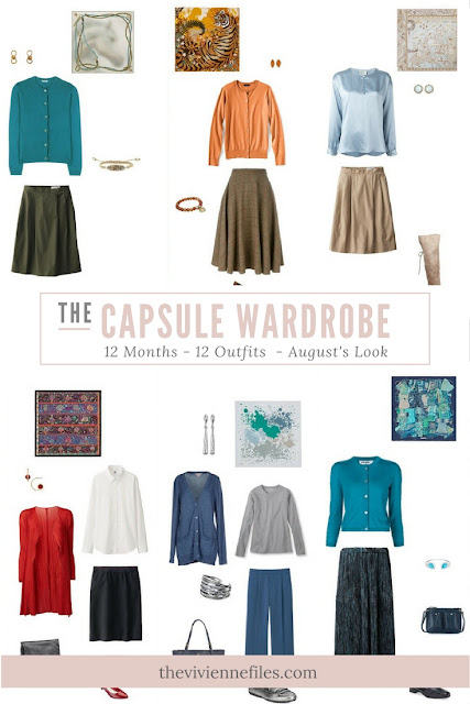 12 Months, 12 Outfits in 6 Capsule Wardrobes: August