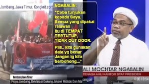 Kata Ngabalin, Tak Ada Deklarasi Pendukung Jokowi di Out Door; Netizen Unggah Video Ini