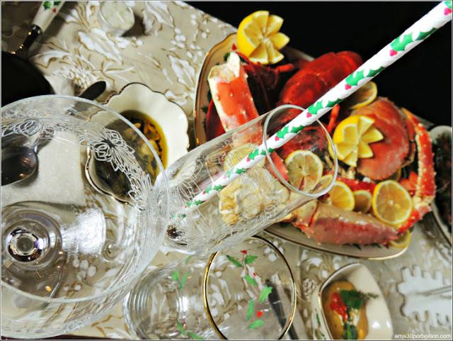 Cristalería para la Cena de Noche Buena y Navidad 2016 en Boston