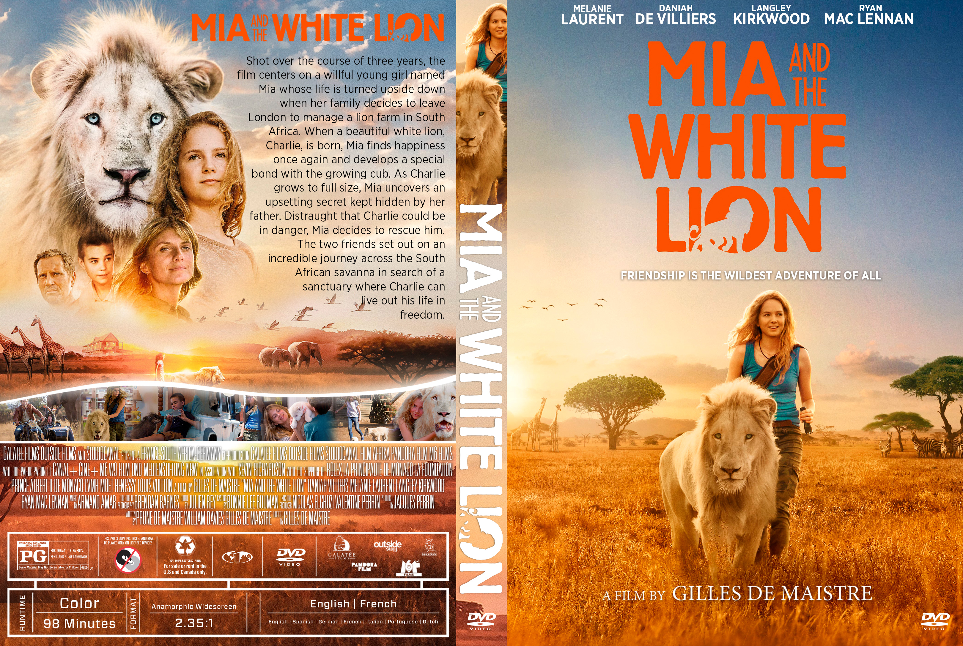 Mia And The White Lion Dvd Cover Cover Addict Free Dvd